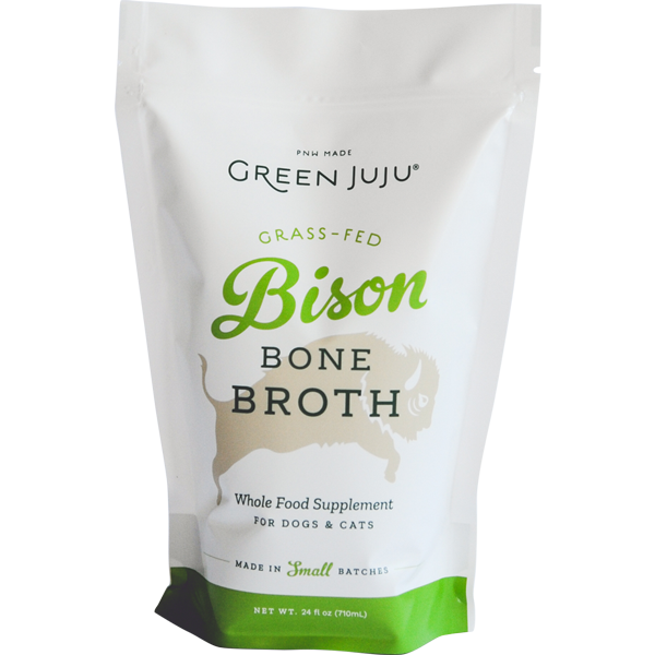 Green Juju Bison Bone Broth for Cats & Dogs, 24-oz