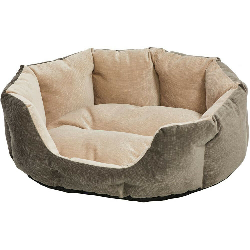 Midwest Quiet Time Tulip Gray Dog Bed, Small
