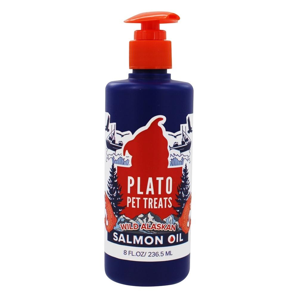 Plato Wild Alaskan Salmon Oil Dog & Cat Supplement, 8-oz