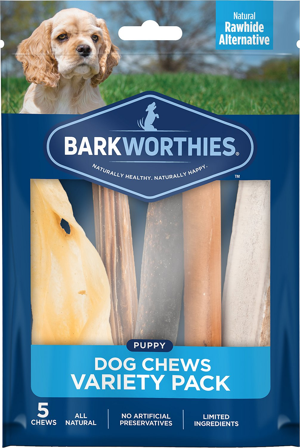 Barkworthies Puppy Variety Pack Natural Dog Treats, 5 count