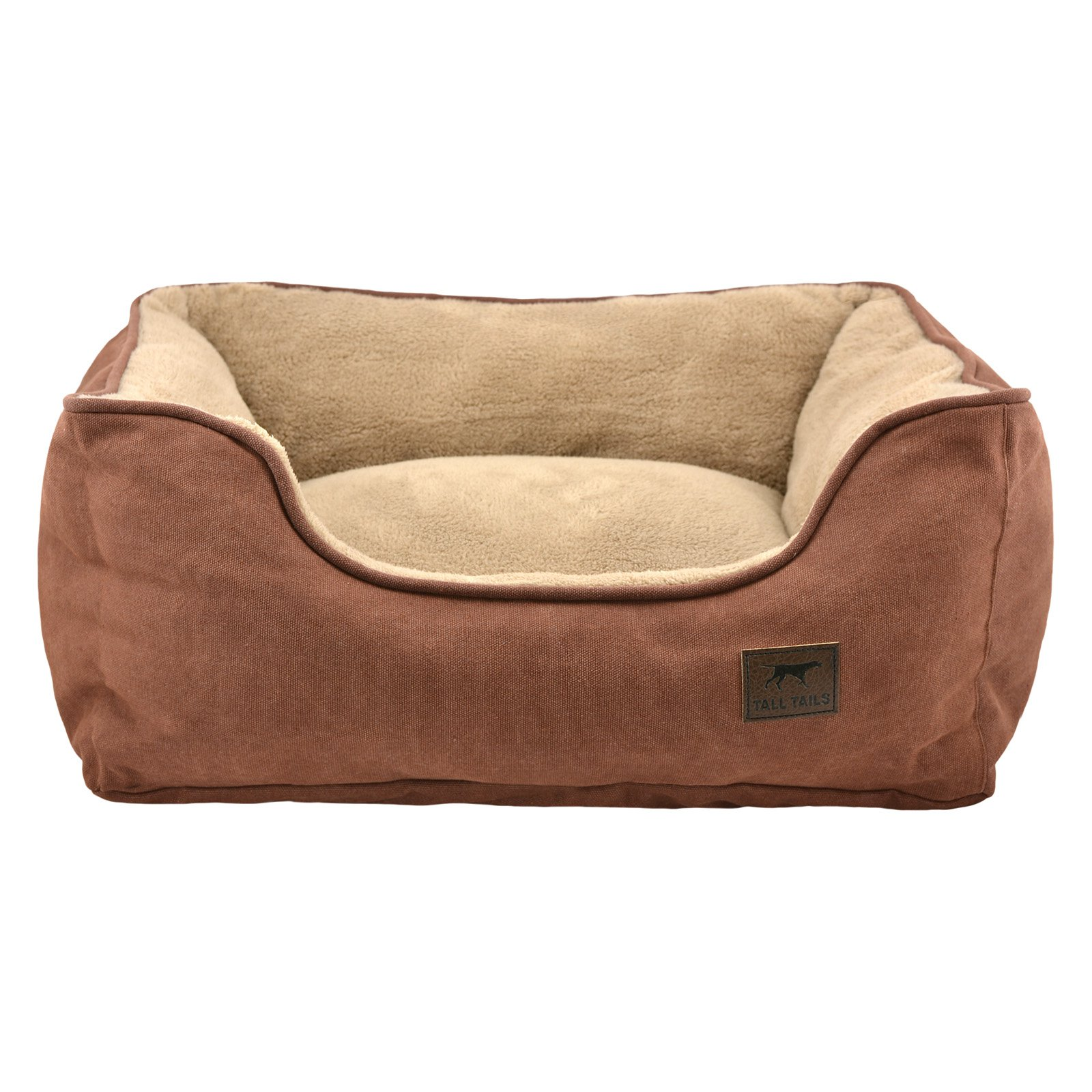 Tall Tails Dream Chaser Brown Bolster Dog Bed, Medium