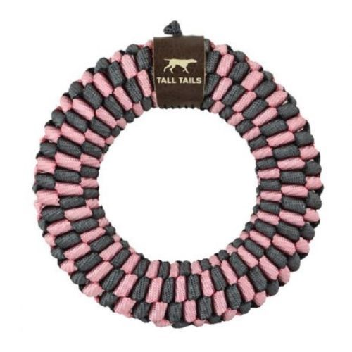 Tall Tails Braided Ring Dog Toy, Pink, 6-in