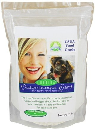Lumino Wellness Food Grade Diatomaceous Earth for Pets & People, 1.5-lb