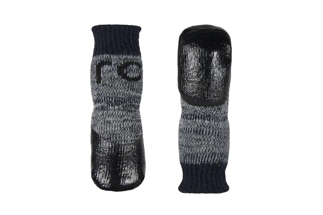 RC Pet Products Sport Pawks Charcoal Heather Dog Socks, Medium