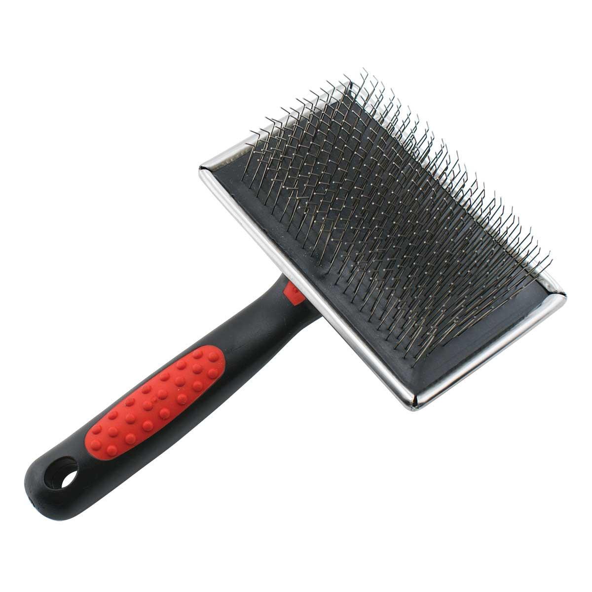 Paw Brothers Extra Long Hard Pin Flat Slicker Dog Brush, Large