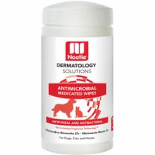 Nootie Dermatology Solutions Antimicrobial Medicated Wipes For Dogs & Cats, 70-count