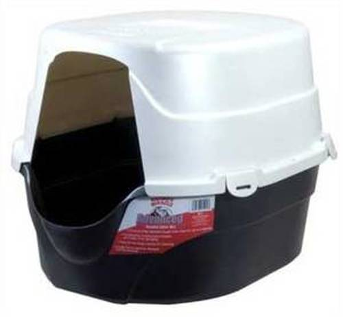 Nature's Miracle Oval Hooded Cat Litter Box, Black