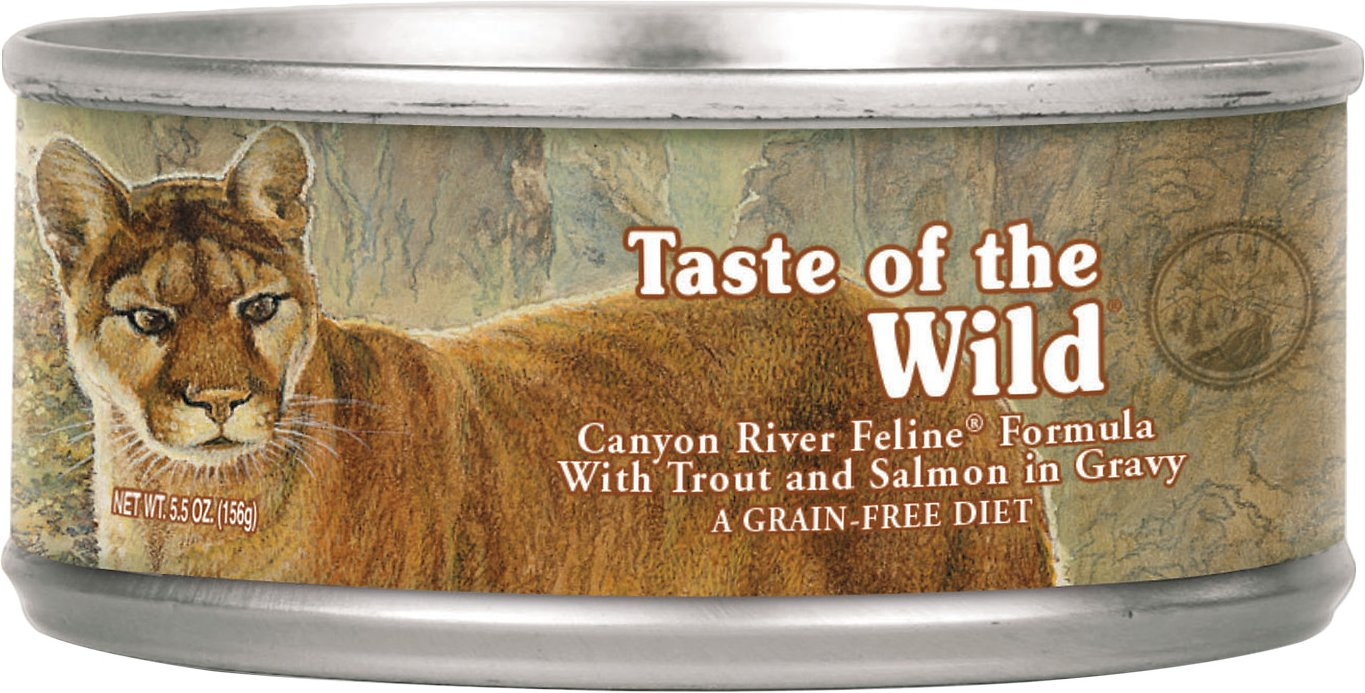 Taste of the Wild Canyon River Grain-Free Canned Cat Food-, 5.5-oz Size: 5.5-oz
