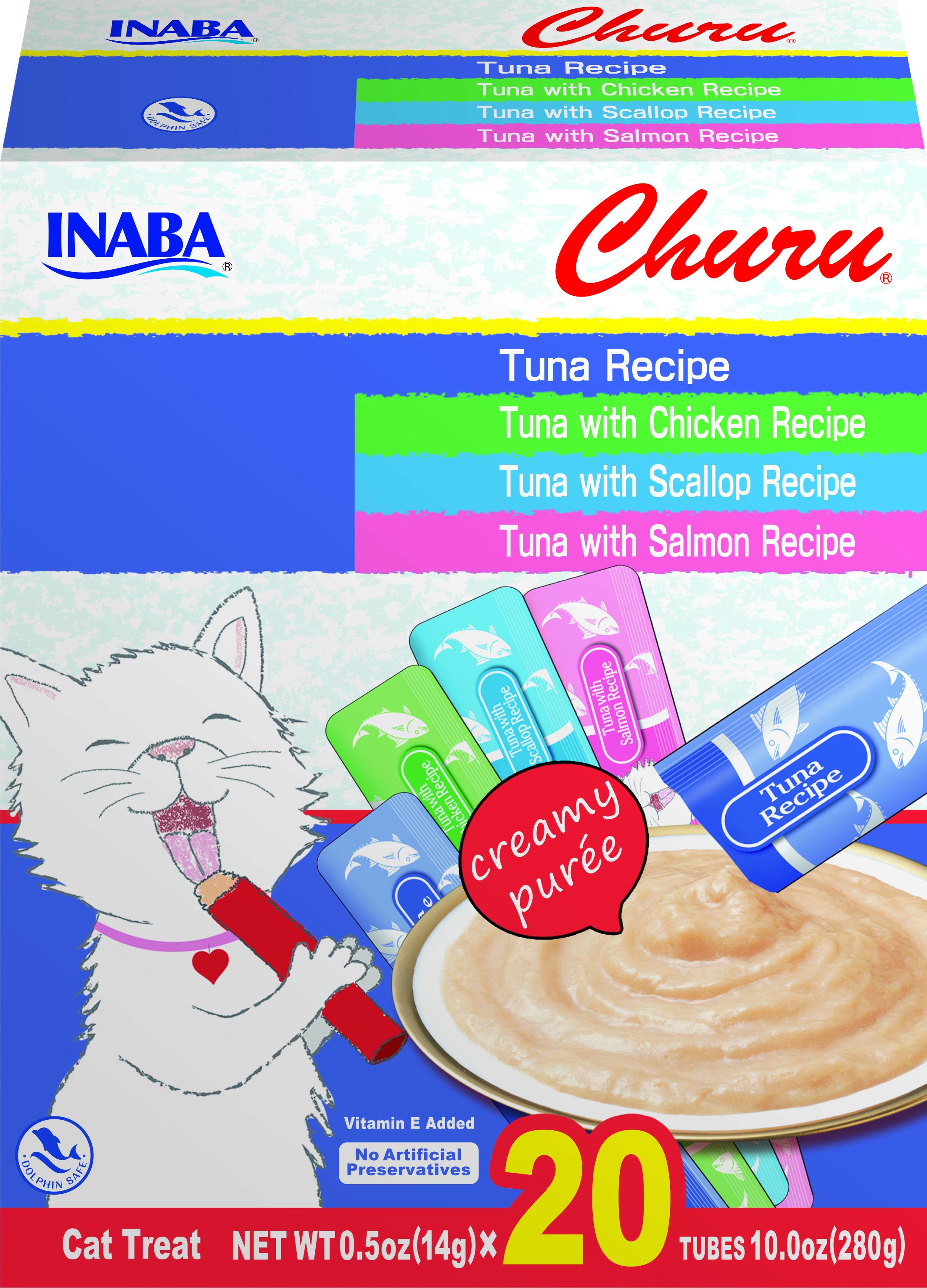 Inaba Churu Tuna Variety Box Grain-Free Cat Treats, 20-pk