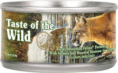 Taste of the Wild Rocky Mountain Grain-Free Canned Cat Food, 3-oz, case of 24
