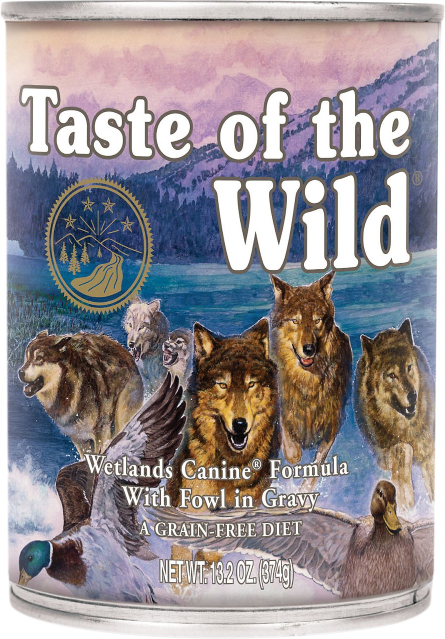 Taste of the Wild Wetlands Grain-Free Canned Dog Food, 13.2-oz