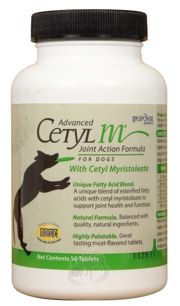 Response Products Advanced Cetyl M Joint Action Formula Tablets Dog Supplement, 120-count