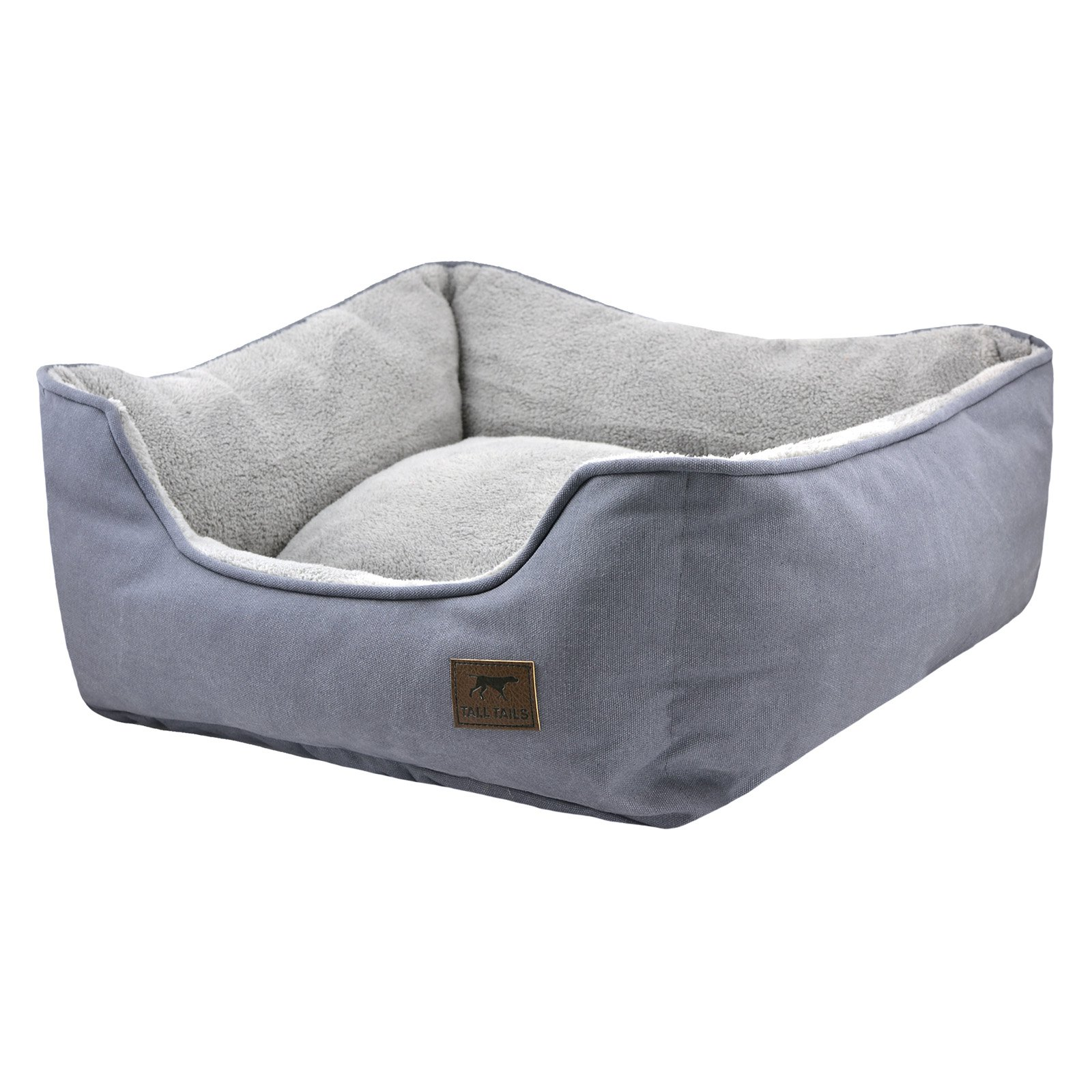 Tall Tails Dream Chaser Charcoal Bolster Dog Bed, Medium