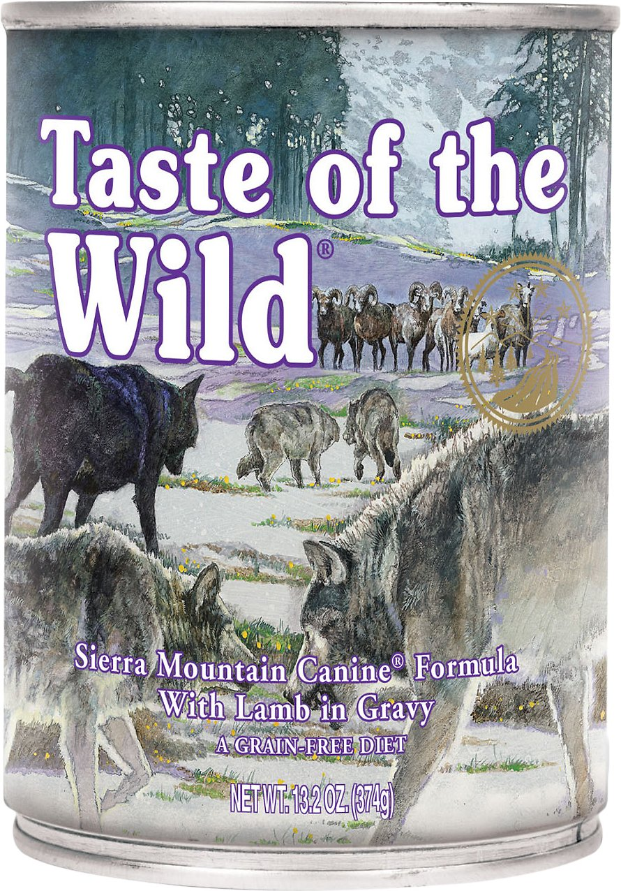 Taste of the Wild Sierra Mountain Grain-Free Canned Dog Food, 13.2-oz, case of 12