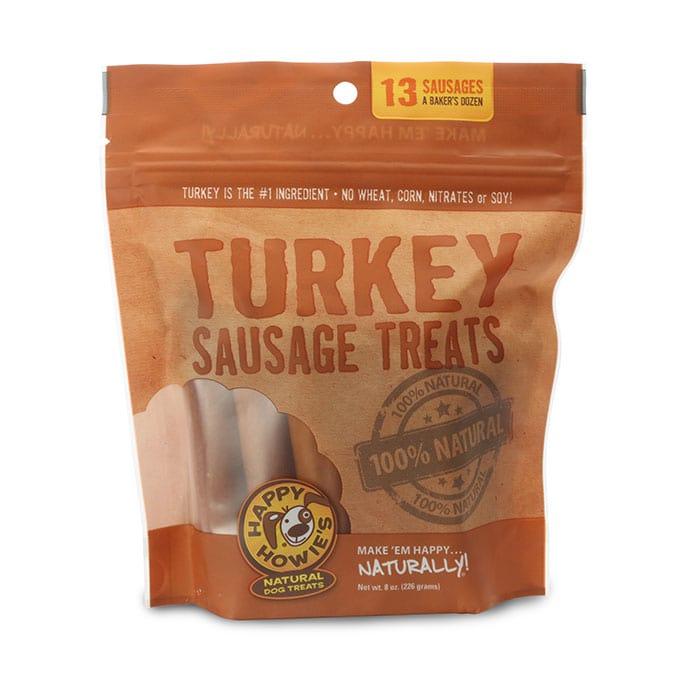 Happy Howie's Turkey Sausage Dog Treat, 13 count