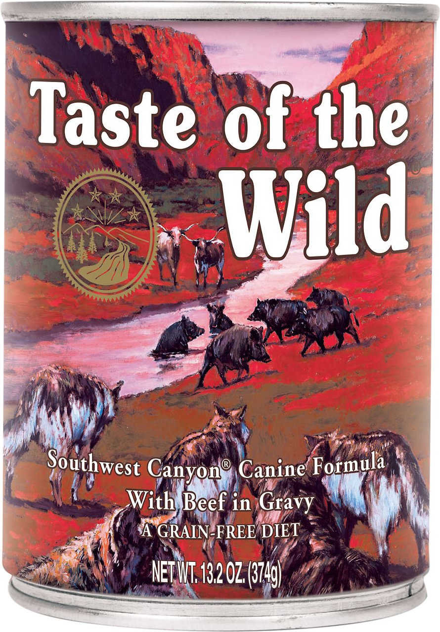Taste of the Wild Southwest Canyon Grain-Free Canned Dog Food, 13.2-oz, case of 12