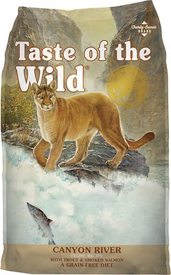 Taste of the Wild Canyon River Grain-Free Dry Cat Food, 15-lb