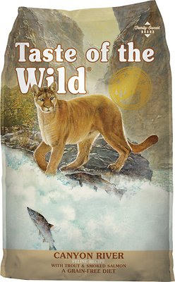Taste of the Wild Canyon River Grain-Free Dry Cat Food, 5-lb