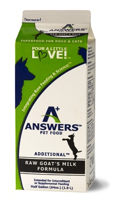 Answers Additional Raw Goat's Milk for Cats & Dogs