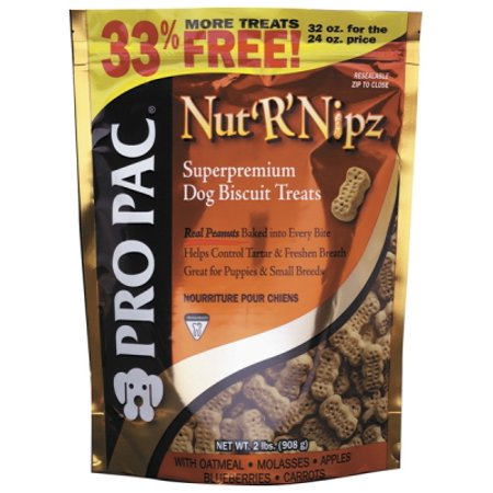 Pro Pac Ultimates Nut'R'Nipz Biscuits Dog Treat