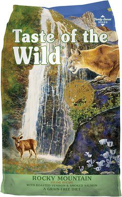 Taste of the Wild Rocky Mountain Grain-Free Dry Cat Food, 14-lb