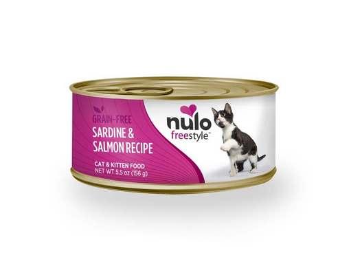 Nulo Cat Freestyle Pate Sardine & Salmon Recipe Grain-Free Wet Cat Food, 5.5-oz