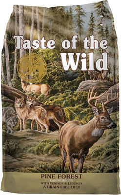 Taste of the Wild Pine Forest Grain-Free Dry Dog Food, 14-lb