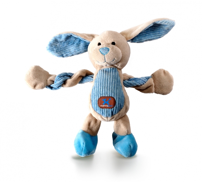 Charming Pet Pulleez Bunny Dog Toy, X-Small