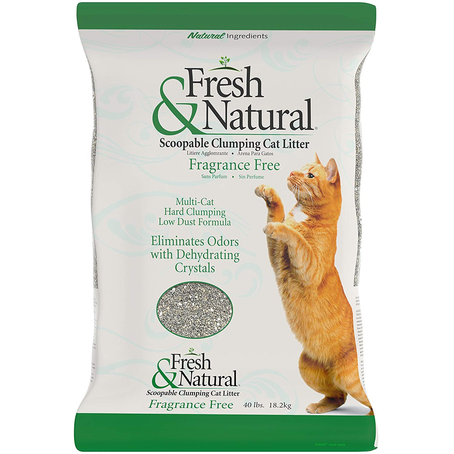 Fresh & Natural Fragrance Free Scoopable Clumping Cat Litter