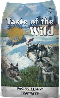 Taste of the Wild Pacific Stream Puppy Formula Grain-Free Dry Dog Food, 14-lb
