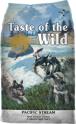 Taste of the Wild Pacific Stream Puppy Formula Grain-Free Dry Dog Food, 5-lb