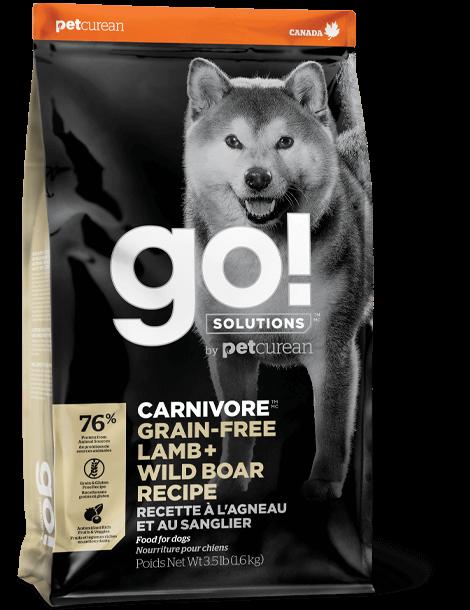 Petcurean Dog Go! Carnivore Grain-Free Lamb + Wild Boar Recipe Dry Dog Food