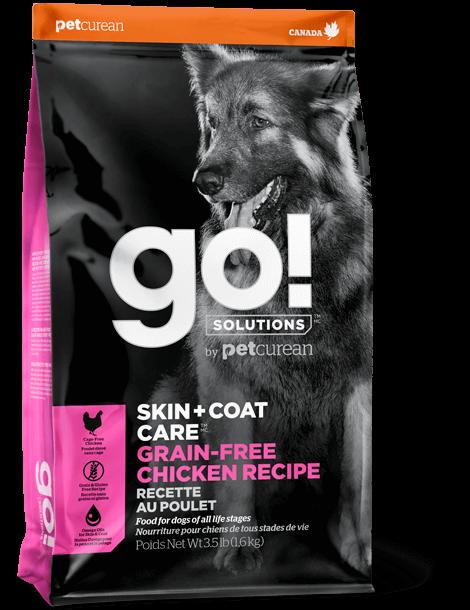 Petcurean Dog Go! Solutions Skin & Coat Care Grain-Free Chicken Recipe Dry Dog Food