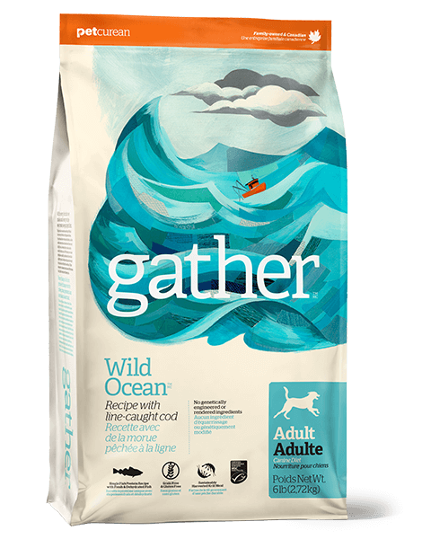 Petcurean Dog Gather Wild Ocean Line Cod Recipe Adult Dry Dog Food
