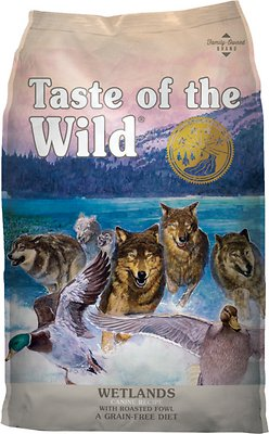 Taste of the Wild Wetlands Grain-Free Dry Dog Food, 15-lb