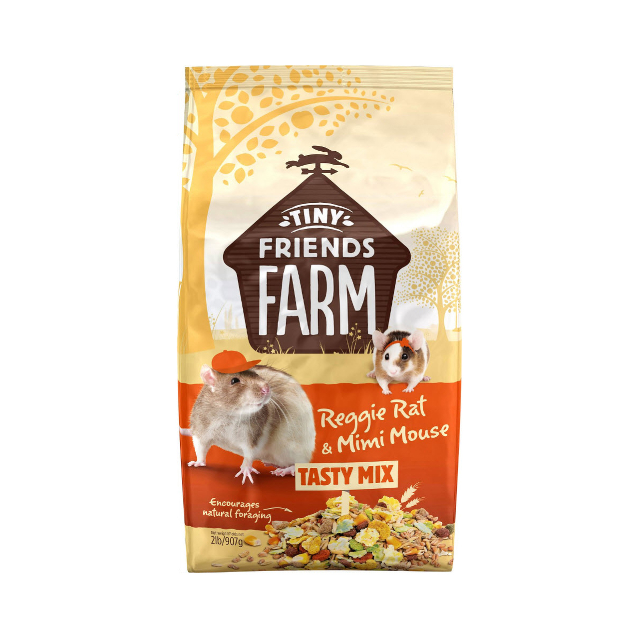 Supreme Petfoods Tiny Friends Farm Reggie Rat & Mimi Mouse Tasty Mix Food, 2-lb