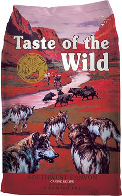 Taste of the Wild Southwest Canyon Grain-Free Dry Dog Food, 28-lb