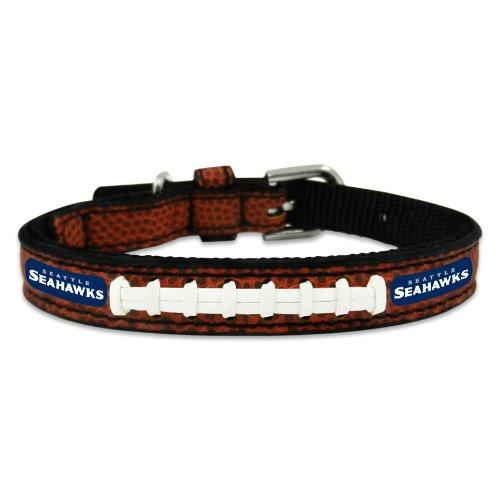 GameWear Seattle Seahawks Classic Leather Football Collar