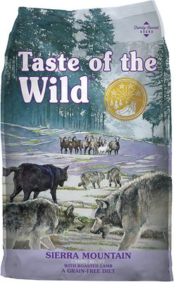 Taste of the Wild Sierra Mountain Grain-Free Dry Dog Food, 15-lb