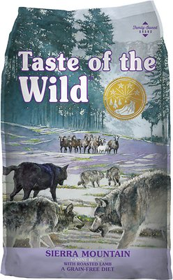 Taste of the Wild Sierra Mountain Grain-Free Dry Dog Food, 30-lb