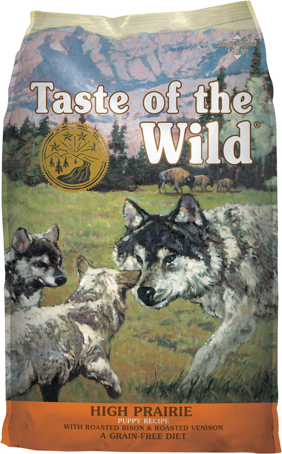 Taste of the Wild High Prairie Puppy Formula Grain-Free Dry Dog Food, 14-lb