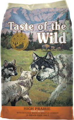 Taste of the Wild High Prairie Puppy Formula Grain-Free Dry Dog Food, 5-lb