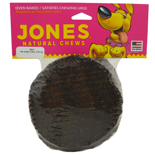 Jones Natural Chews Oven-Baked Bark Burgers Dog Treats
