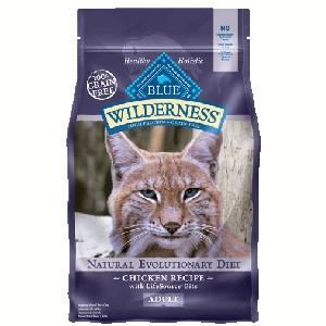 Blue Buffalo Wilderness Nature's Evolutionary Diet Chicken Grain-Free Dry Cat Food, 6-lb
