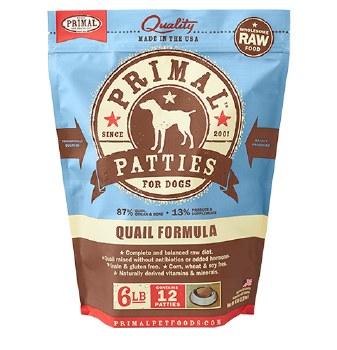 Primal Quail Formula Nuggets Grain-Free Raw Frozen Dog Food, 6-lb