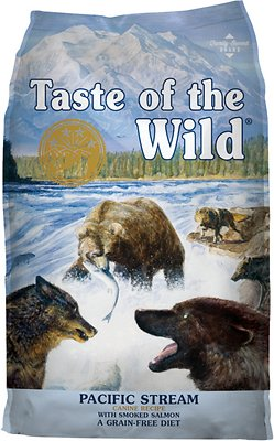 Taste of the Wild Pacific Stream Grain-Free Dry Dog Food, 14-lb