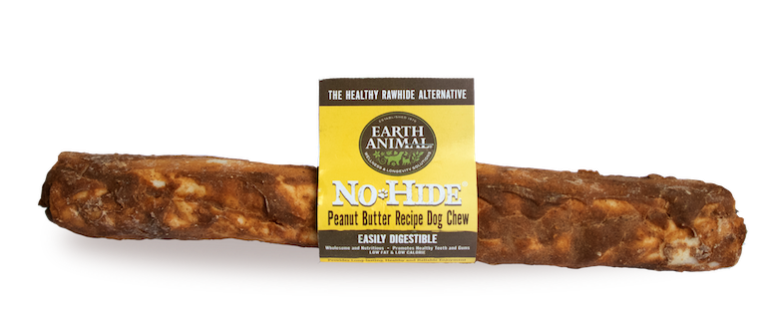 Earth Animal No-Hide Peanut Butter Chew Dog Treats, 11-in