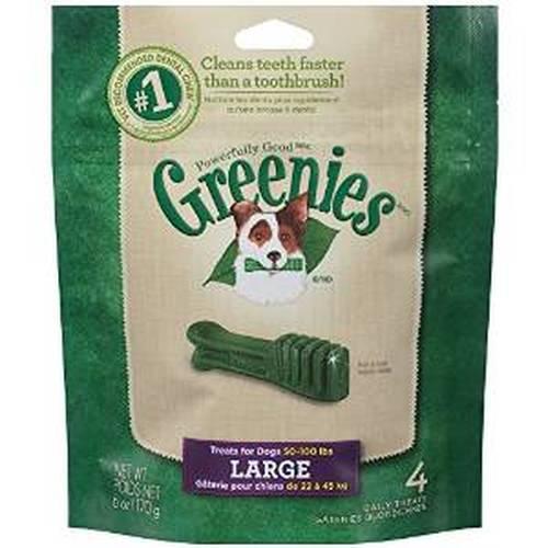 Greenies Original Large Dental Dog Treats, 4-count