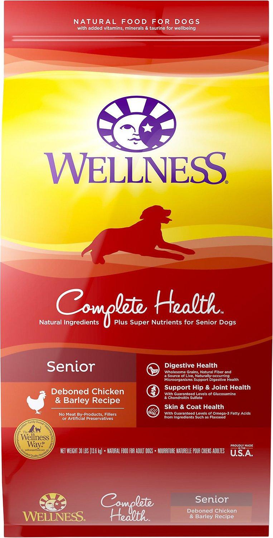 Wellness Complete Health Senior Deboned Chicken & Barley Recipe Dry Dog Food, 6-lb