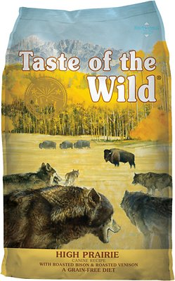 Taste of the Wild High Prairie Grain-Free Dry Dog Food, 5-lb
